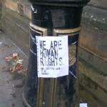 A poster in situ