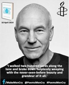 Patrick Stewart on #PoemsMenCry