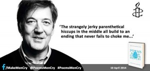 Stephen Fry on #PoemsMenCry